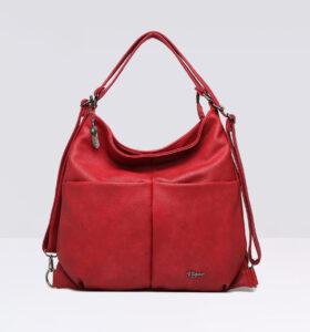 דגם ברוק: תיק צד לנשים בצבע אדום