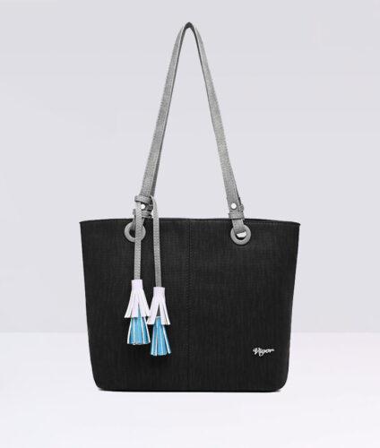 דגם אנג'י: תיק צד לנשים בצבע שחור