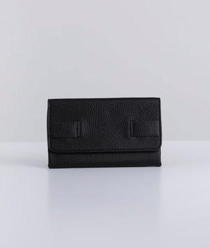 דגם רני: ארנק נשים מעוצב בצבע שחור
