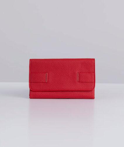 דגם רני: ארנק נשים מעוצב בצבע אדום