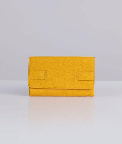 דגם רני: ארנק נשים מעוצב בצבע צהוב