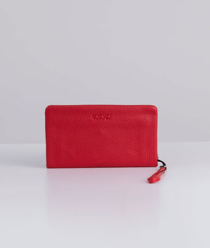 דגם מלניה: ארנק נשים קלאסי בצבע אדום