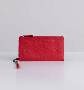 דגם שני: ארנק נשים גדול בצבע אדום