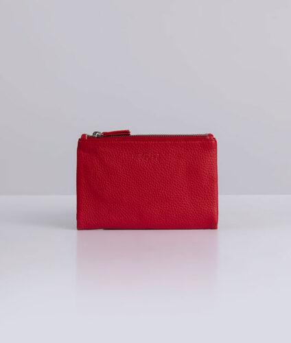 דגם אורן: ארנק נשים בצבע אדום