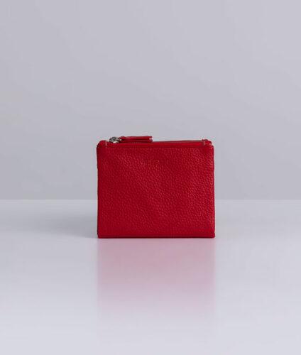 דגם ויטני: ארנק נשים קטן בצבע אדום