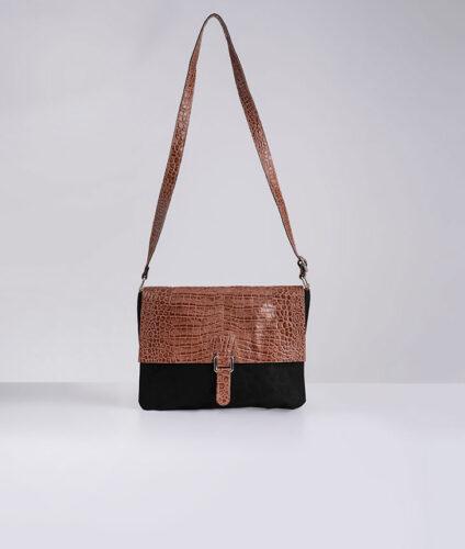דגם יעל: תיק צד לנשים בצבע קאמל