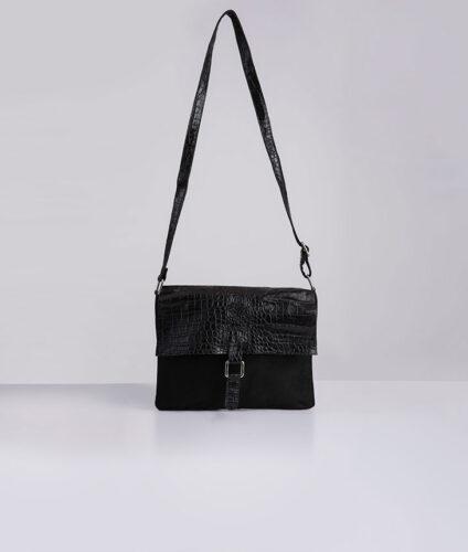 דגם יעל: תיק צד לנשים בצבע שחור