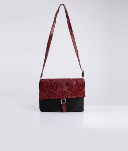 דגם יעל: תיק צד לנשים בצבע בורדו