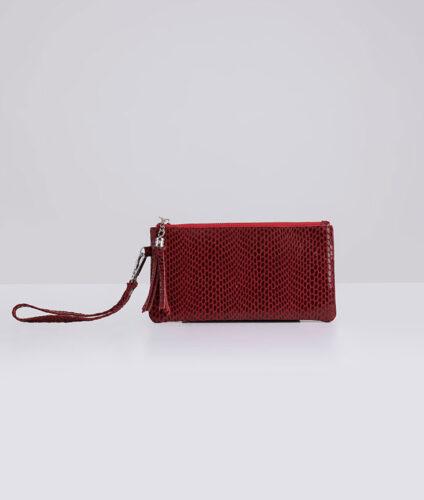 דגם חן: ארנק עור לנשים בצבע אדום