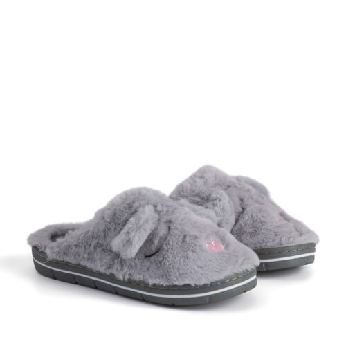 נעלי בית חיות בצבע אפור