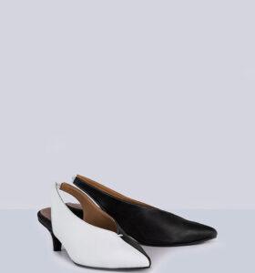 בלעדי לאתר: דגם דמקה- נעלי עקב סלינג בק