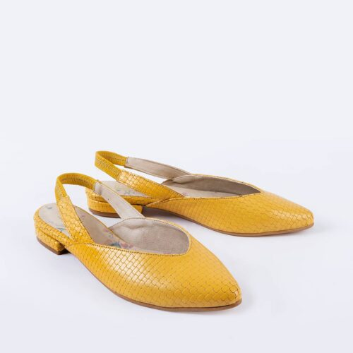 דגם נטע- נעלי שפיץ מעור מוטבע