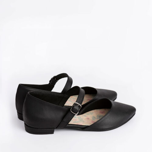 דגם גליה - נעלי שפיץ טבעוניות עם אבזם