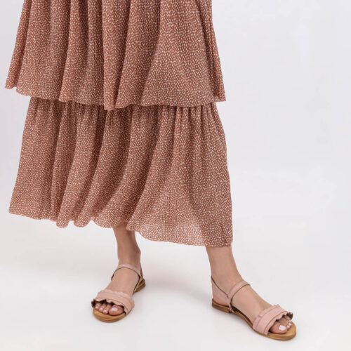 בלעדי לאתר: דגם צוף- סנדלים שטוחים עם רצועת קפלים
