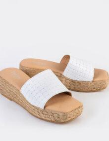 דגם גל - נעלי פלטפורמה עם סוליה מצופה בחבל