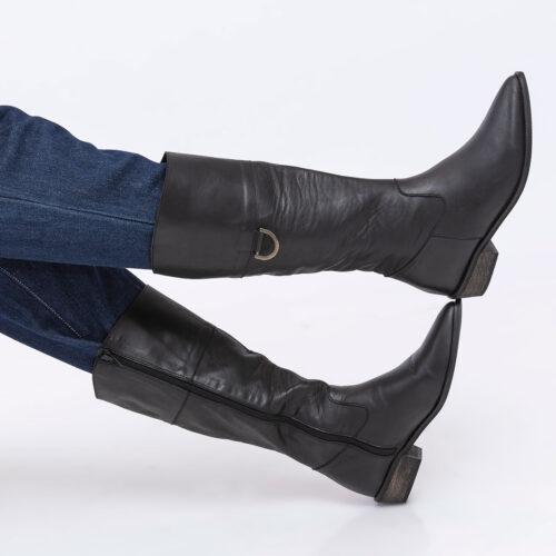 דגם יולי - מגפיים עד הברך עם דיטייל מתכת